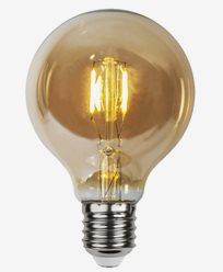 Star Trading LED-lampa Glob 24V AC/DC Amber 0,23W