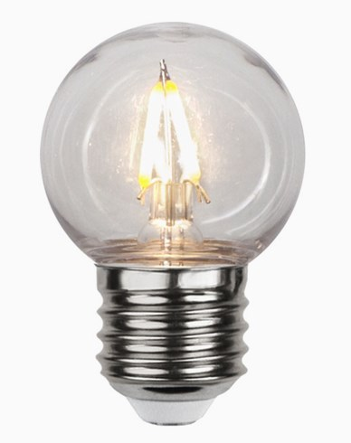 Star Trading LED-pære PC-plast  G45 E27 2700K 1,3W (15W)