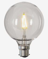 Star Trading LED-lampa PC-plast G95 B22 2700K 0,6W