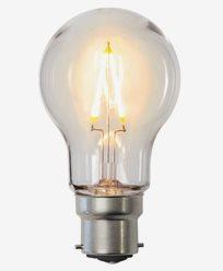 Star Trading LED-lampa PC-plast A55 B22 2200K 0,6W