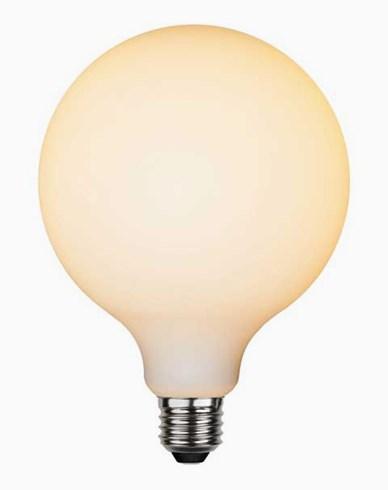 Star Trading LED-lampa Glob Ø125 E27 Frostad filament 5W