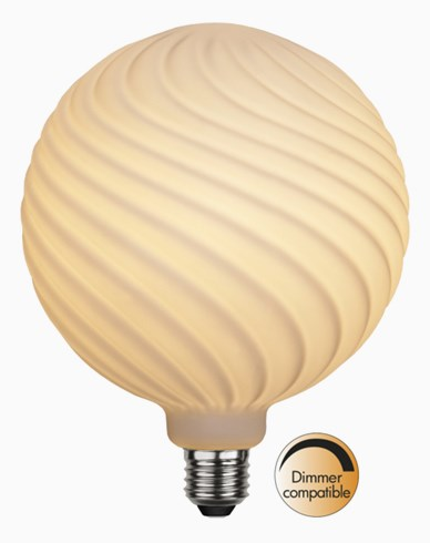 Star Trading LED Opalisert vritt glass globe Ø150mm 2600K 6W(45W)