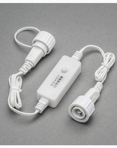 """Konstsmide Dimmer vit 5 steg  """"soft cable"""" ute, DC. 24V/IP44"""