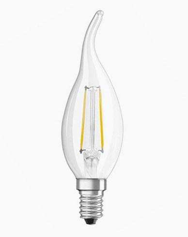 Osram LED Retrofit Kron med topp E14 2W