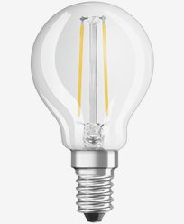 Osram LED kronepære CL P E14 Dim 2,8W/827 (25W). Dimbar