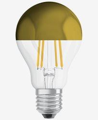 Osram LED-pære CL A 54 Toppforspeilet Gold E27 7W (54W)