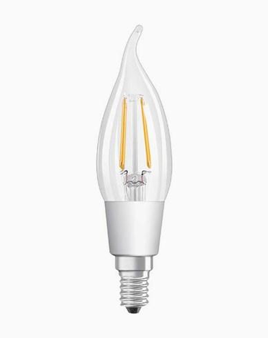 Osram LED-lampa CL BA böjd topp E14 Dim 4,5W/827 (40W)