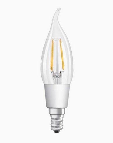 Osram LED kronljus böjd topp CL BA E14 GLOWdim 4,5W (40W)