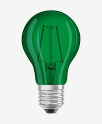 Osram LED-lampa CL A Decor Green E27 1.6W (15W)