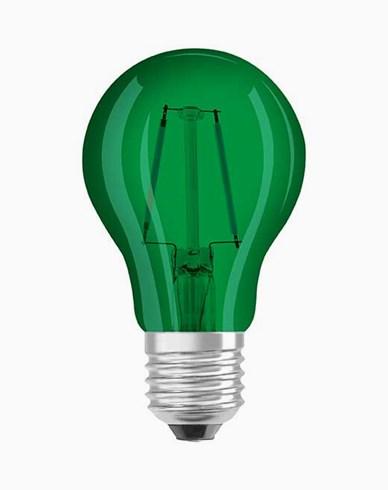 Osram LED-pære CL A Decor Green E27 1.6W (15W)