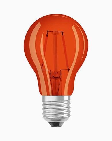 Osram LED-pære CL A Décor Orange E27 2W (15W)