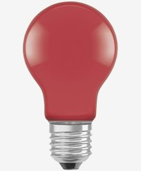 Osram LED-pære CL A Décor Red E27 2W (15W)