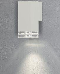 Konstsmide Antares vägglykta 2xGU10 vit/dubbel