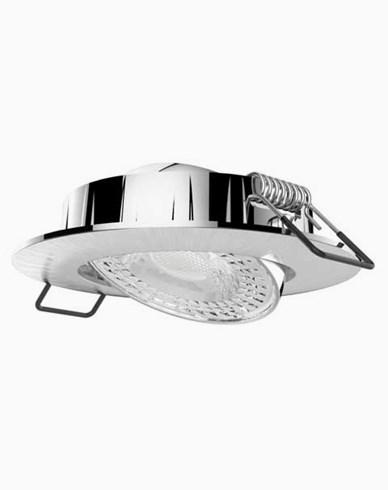 Airam Cosmo LED downlight 5,8W/830 IP20 dimbar Børstet krom