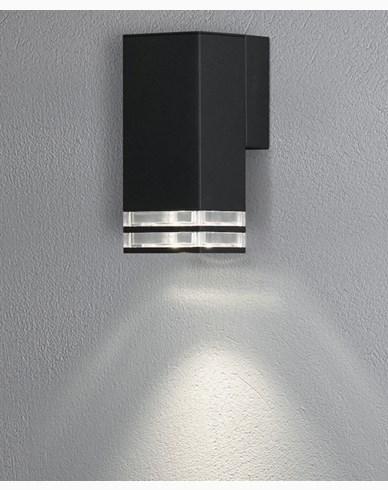 Konstsmide Antares vägglykta 2xGU10 svart/dubbel