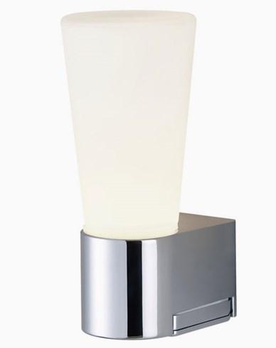Airam Spa Amalfi LED vegglampe IP44 4,5W/830 IP44 krom. Inkl uttag