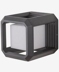 AIRAM LED-Väggarmatur FLEN 13W/830 Aluminium, PC, antracit