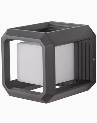 AIRAM LED-Vegglampe FLEN 13W/830 Aluminium, PC, antracit