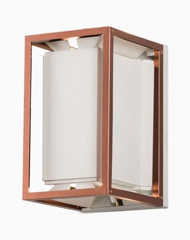 Konstsmide VALE vägglykta LED vit/koppar 424-259