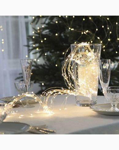 Star Trading Dew Drop ljusslinga 360 LED, Silver, 23X200 cm
