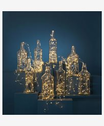 Star Trading Dew Drop ljusslinga 720 LED, Silver, 36X300 cm