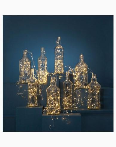 Star Trading Dew Drop lysslynge 720 LED, sølv, 36X300 cm