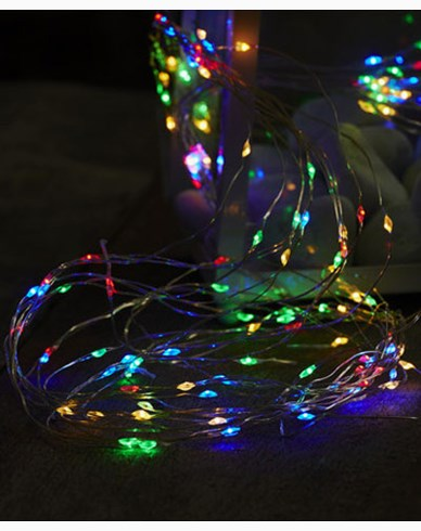 Star Trading Ljusslinga Dew Drop 125 LED Multifärgad