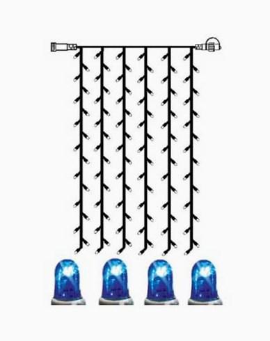 System LED gardin extra 102 ljus 1x2m blå