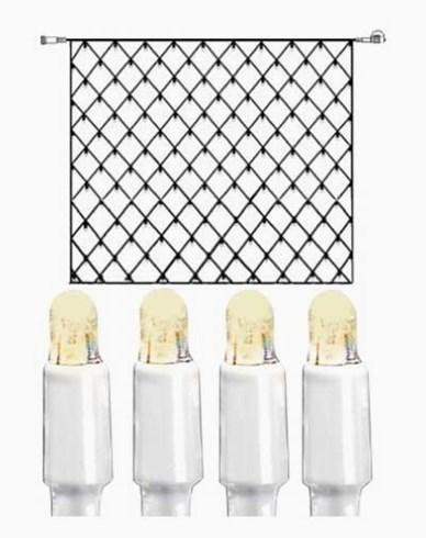System LED nät extra 192 ljus 3x3m varmvit vit kabel