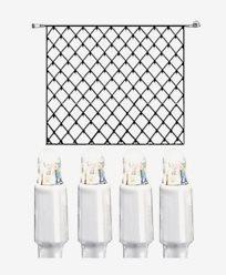 System LED nett ekstra 192 lys 3x3m kallhvit med hvit kabel. 466-18-33