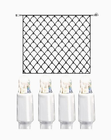 System LED nät extra 192 ljus 3x3m kallvit vit kabel