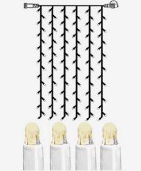 System LED gardin ekstra 102 ljus 1x2m varmhvit med hvit kabel. 466-56