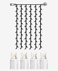 System LED gardin ekstra 102 lys 1x2m kallhvit med hvit kabel. 466-58