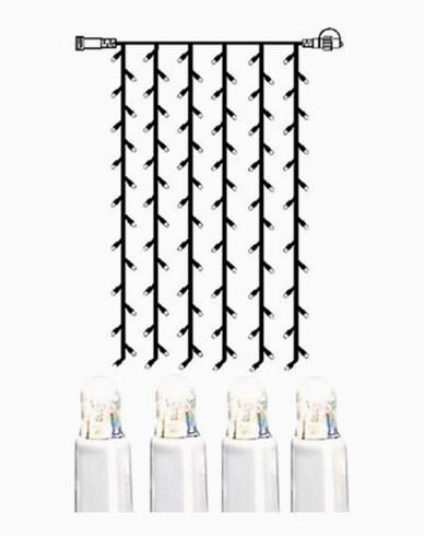 System LED gardin extra 102 ljus 1x2m kallvit vit kabel