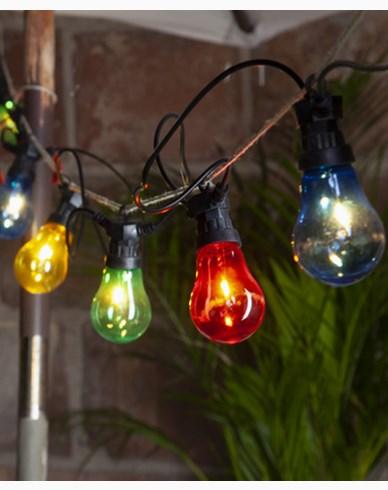 Star Trading Lysslynge Circus 10 fargade Filament LEDpærer