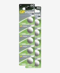 GP Batteries Knappcellsbatterier CR2025 10-pack