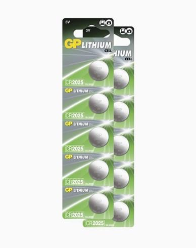 GP Batterier Knappcell-batterier CR2025 10 pack