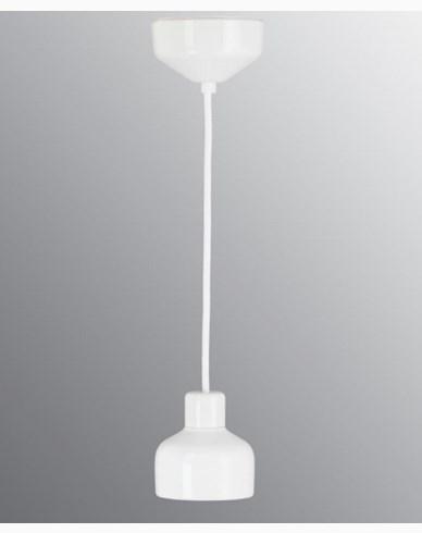 Ifö Electric Ohm Pendel 100 utan kupa, vit sockel/2m vit textilkabel, IP44, G9, 20W