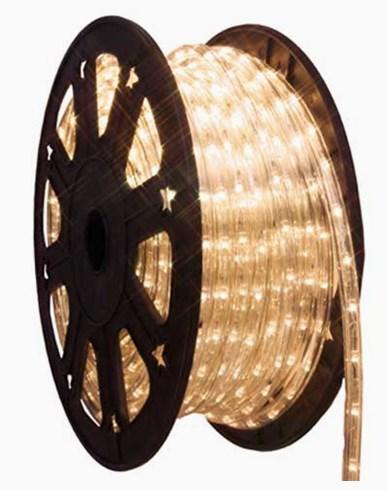 Ropelight LED lys slange på rull. 45m varmhvit. Inkl startkabel