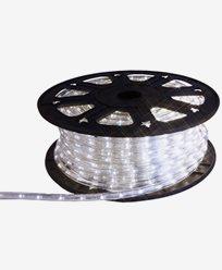 Ropelight LED lys slange på rull. 45m kallhvit. Inkl startkabel