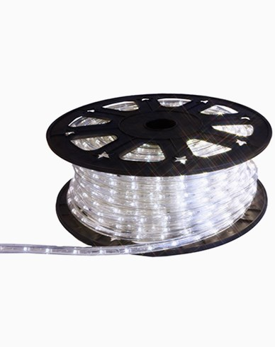Ropelight LED ljusslang på rulle. 45m kallvit. Inkl startkabel