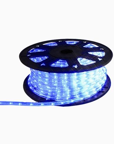 Ropelight LED lys slange på rull. 45m Blå. Inkl startkabel