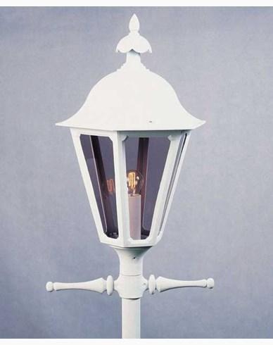 Konstsmide Pallas lyktestolpe E27 hvit ex stolpe 567-250