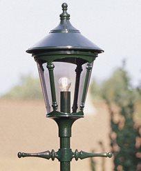 Konstsmide Virgo stolplykta E27 grön ex stolpe