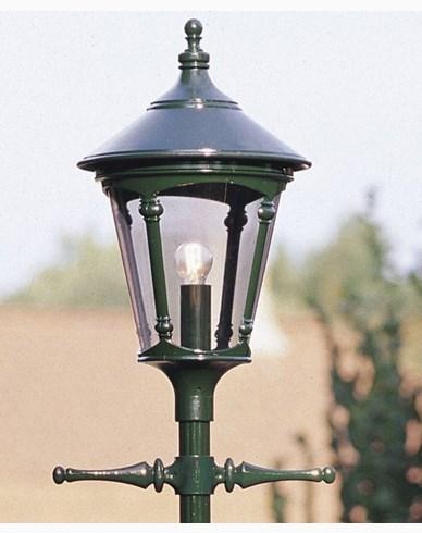 Konstsmide Virgo stolpelykte E27 grønn ex stolpe