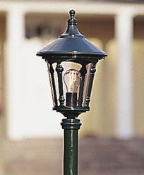 Konstsmide Virgo hagelampe E27 grønn unntatt stolpe