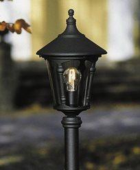 Konstsmide Virgo hagelampe E27 svart unntatt stolpe