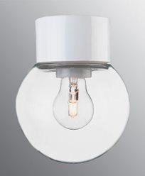 Ifö Electric Classic Glob rett Ø150 mm Hvit