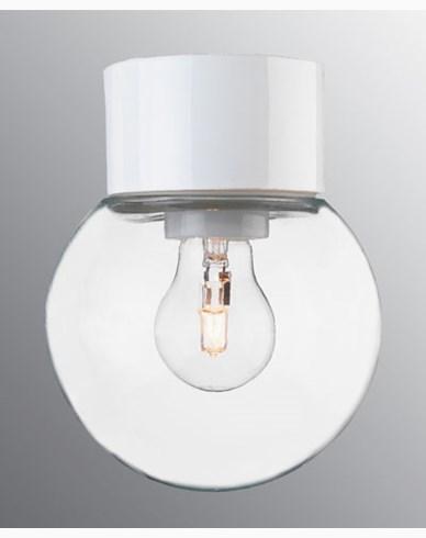 Ifö Electric Classic Glob rak Ø150 mm Vit