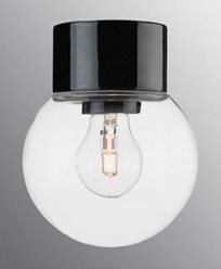 Ifö Electric Classic Glob rak Ø150 mm Svart